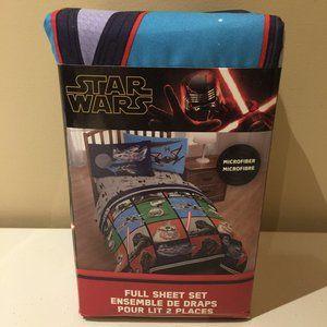 Star Wars Full Sheet Set Disney Microfiber Kids